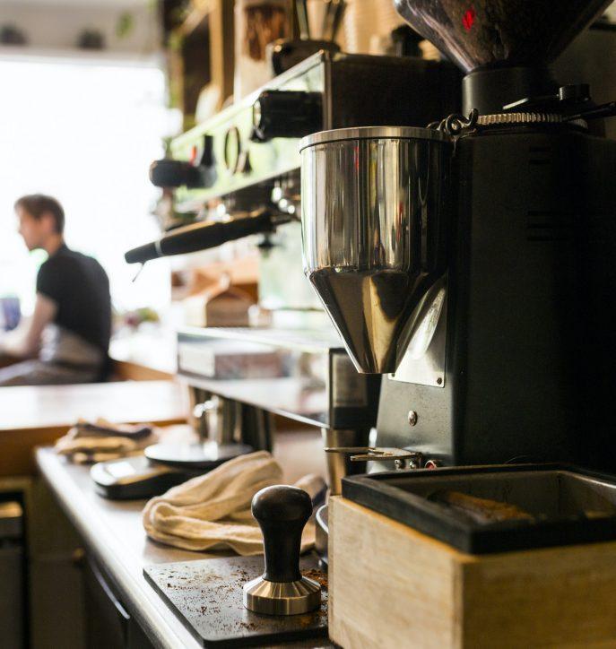 Coffee machine in coffee shop